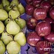 Fresh Apples And Pears On A Street Fair In Brazil Poster by Ricardo Lisboa