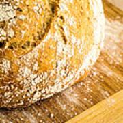 Fresh Baked Loaf Of Artisan Bread Poster