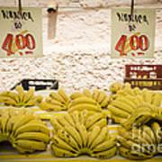 Fresh Bananas On A Street Fair In Brazil Poster by Ricardo Lisboa