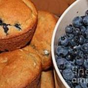Fresh Blueberries And Muffins Poster