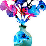 Fresh Cut - Vibrant Flowers Floral Painting Poster