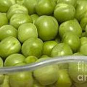Fresh Green Peas Poster