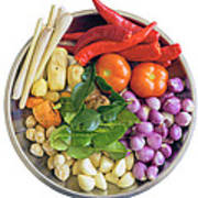 Fresh Ingredients For Cooking Curry Sauce Poster