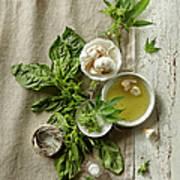 Fresh Ingredients With Marijuana Poster