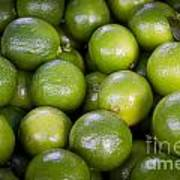 Fresh Limes On A Street Fair In Brazil Poster by Ricardo Lisboa