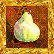 Fresh N Happy Pear Decorative Collage Poster