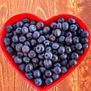 Fresh Picked Organic Blueberries Poster