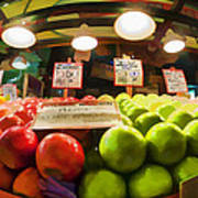 Fresh Pike Place Apples Poster