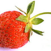 Fresh Red Strawberry Poster