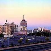 Fresno Skyline Into The Evening Poster