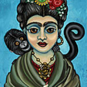 Frida's Monkey Poster