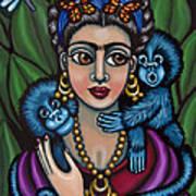 Frida's Monkeys Poster by Victoria De Almeida
