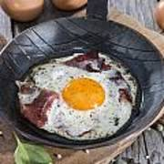 Fried Egg In A Pan Poster