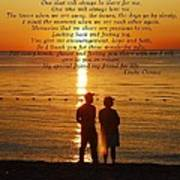 Friend For Life Poem Poster