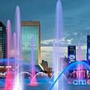 Friendship Fountain Jacksonville Florida Poster