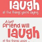 Friendship Typography Print poster Poster