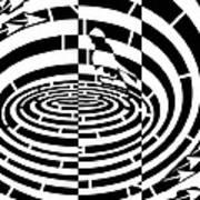 Frisbee Toss Maze  Poster