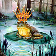 Frog Prince Poster by Heather Calderon