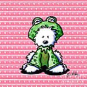 Frog Prince Westie Dog Poster