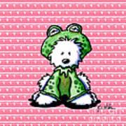Frog Prince Westie Dog Poster by Kim Niles