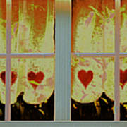 From French Riviera Window With Love Poster