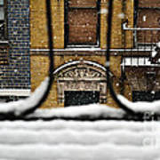 From My Fire Escape - Arches In The Snow Poster