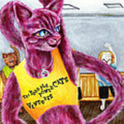 From Purple Cat Illustration 15 Poster