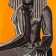 Front And Side Egyptian Pharoah Poster