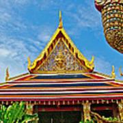 Front Of Royal Temple At Grand Palace Of Thailand In Bangkok Poster