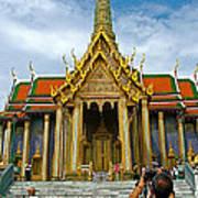 Front Of Thai-khmer Pagoda At Grand Palace Of Thailand In Bangkok Poster