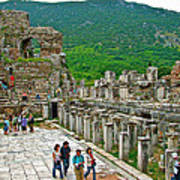 Front Of Theater In Ephesus-turkey Poster