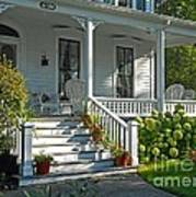 Front Porch In Summer Poster