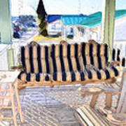 Front Porch On An Old Country House  3 Poster