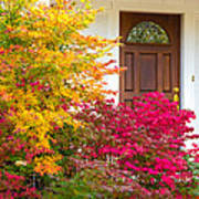 Front Yard Autumn Decor, Quincy California Poster