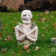 Front Yard Halloween Graveyard Poster