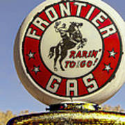Frontier Gas Pump Poster