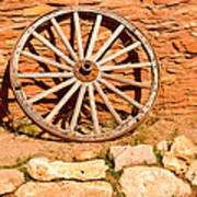 Frontier Wagon Wheel Poster