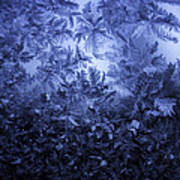 Frost on window #3 Poster