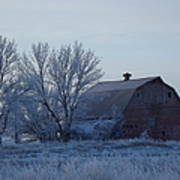 Frosty Barn Poster