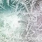 Frosty Windowpane Poster