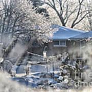Frosty Winter Window Poster