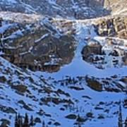 Frozen Black Lake Poster