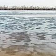 Frozen Dnieper River Poster