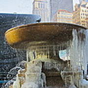 Frozen Fountain Poster by Maritza Melendez