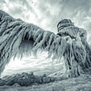 Frozen Lighthouse Poster