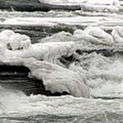 Frozen Niagara River Rapids Above Niagara Falls Poster