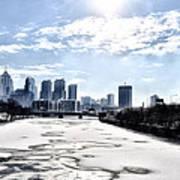 Frozen Philadelphia Cityscape Poster