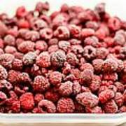 Frozen Raspberries Poster