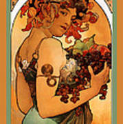 Fruit Poster by Alphonse Maria Mucha