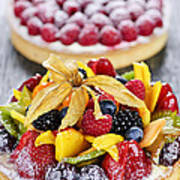 Fruit And Berry Tarts Poster